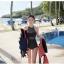 SM-V1-423 ชุดว่ายน้ำวันพีช สีดำ ซีทรูเซ็กซี่ แต้มลายจุด thumbnail 12