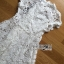 Lady Gabriela Crystal Embellished Flower White Lace Dress L263-8909 thumbnail 15