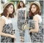 DS-PP-035 Lady Margaret Casual Chic Graphic Print Lace Jumpsuit thumbnail 3