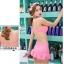 SM-V1-405 ชุดว่ายน้ำเซ็ต 3 ชิ้น สีชมพู (บรา+กางเกง+เสื้อคลุมผ้าลูกไม้) thumbnail 8