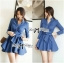 DR-LR-154 Lady Sarah Smart Casual Feminine Denim Shirt Dress thumbnail 10