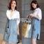 Lady Coco Cotton White Shirt with Denim Skirt Dress L202-69B10 thumbnail 12