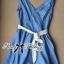 DR-LR-065 Lady Maria Pretty Delicate Pearly Denim Dress thumbnail 11