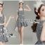 Lady Jennifer Summery Pretty Daisy Embroidered Plaid Dress L265-6901 thumbnail 7