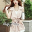 DS-PP-026 Lady Stella Vintage Glam Sleeveless Trench Set thumbnail 2