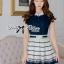 DR-LR-209 Lady Claire Mixed Print Sleeveless Insert Chiffon Shirt Dress thumbnail 8