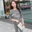 Lady Chloe Houndstooth Peplum Top and Skinny Pants Set L148-85E11 thumbnail 4