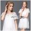 Lady Mandy Pretty Feminine Embellished Lace and Chiffon Dress L226-75C04 thumbnail 1