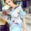 Lady Katie Dreamy Colourful Printed Layered Chiffon Top and Satin Shorts Set L166-79C11 thumbnail 6