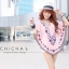 Florally Embroidery Blouse สีชมพู C143-49A15 thumbnail 1