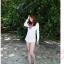 BW-V1-001 เสื้อแขนยาว Beach Wear จั้มใต้อก ใส่คลุมทับชุดด้านในได้สวยๆ/สีขาว thumbnail 3
