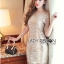 Lady Nicole Sophisticated Golden See-through Laser-cut Sequin Dress L214-89C03 thumbnail 3