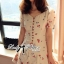 DR-LR-195 Lady Anna Sweet Mini Berries Print Chiffon Dress thumbnail 11