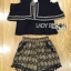 Lady Florence Hippie Chic Jersey Cropped Top and Printed Shorts with Tassels L263-6906 thumbnail 16