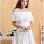 Lady Chloe Feminine Off-Shoulder Cotton and Lace Dress L188-75C08 thumbnail 4