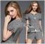 Lady Grace Smart Casual Check Printed Blouse and Shorts Set L200-79C06 thumbnail 13