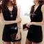 DR-LR-041 Lady Miki Pleats Please Chiffon Dress (สีดำ) thumbnail 4