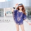 Florally Embroidery Blouse สีกรม C143-49A15 thumbnail 2