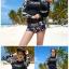 SM-V1-667 ชุดว่ายน้ำแขนยาว โทนสีดำ ลายสวย Love_XOXO thumbnail 4