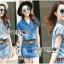 Lady Cindy Little Western Cowboy Denim Shirt and Shorts Set with Belt L262-8507 thumbnail 8