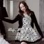 DR-LR-087 Lady Avril Minimal Chic Swirl Print Dress thumbnail 5