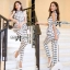Lady Black&White Checkmate Trousers Set L134-69C01 thumbnail 1