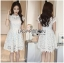 Lady Gabriela Crystal Embellished Flower White Lace Dress L263-8909 thumbnail 12