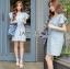 Lady Jill Geometry Flared-Sleeved Brocade Denim Dress L193-69C05 thumbnail 13