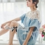 DR-LR-094 Lady Natalie Casual Slouchy Lace and Denim Dress thumbnail 12