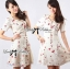 DR-LR-195 Lady Anna Sweet Mini Berries Print Chiffon Dress thumbnail 6
