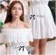 Lady Chloe Feminine Off-Shoulder Cotton and Lace Dress L188-75C08 thumbnail 5