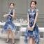 Korea Cocktail Dresses blue floral print by Aris Code thumbnail 2