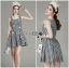 Lady Jennifer Summery Pretty Daisy Embroidered Plaid Dress L265-6901 thumbnail 2