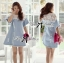 DR-LR-094 Lady Natalie Casual Slouchy Lace and Denim Dress thumbnail 7
