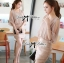 DR-LR-180 Lady Christine Sophisticated Sexy Dress in Nude thumbnail 2