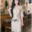 Kate Royal Sweet Gold Floral Embroidered Button-Down Tulle Dress L272-85031 thumbnail 2