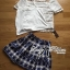 Lady Helena Sweet Casual Lace Top and Printed Skirt Set L162-85E01 thumbnail 5