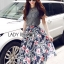 Lady Liz Lace Jumper and Floral Printed Midi Skirt Set L200-89C11 thumbnail 9