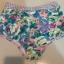 SM-V1-341 ชุดว่ายน้ำเอวสูง สีชมพู ลายดอกไม้สวยๆ thumbnail 2