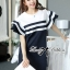 DR-LR-155 Lady Natasha Striped Dress in Navy Style thumbnail 6