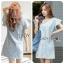 Lady Jill Geometry Flared-Sleeved Brocade Denim Dress L193-69C05 thumbnail 1