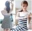 DR-LR-194 Lady Suzi Basic Chic Striped Mini Dress thumbnail 4