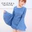 Bell Sleeve Denim MiniDress by ChiCha's C185-58A21 thumbnail 2
