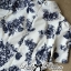 DR-LR-277 Lady Sweet Pearl Collar Blue Floral Blooming Chinoise Dress thumbnail 10