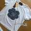 Lady Coco Camellia Denim Embroidered T-Shirt and Skinny Jeans Set L263-8904 thumbnail 12