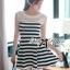 DR-LR-194 Lady Suzi Basic Chic Striped Mini Dress thumbnail 3