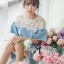 DR-LR-094 Lady Natalie Casual Slouchy Lace and Denim Dress thumbnail 9
