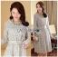 Lady Aliza Classic Vintage Plain Lace Dress with Belt L273-7909 thumbnail 7