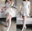 Lady Annette Pearl Embellished Laser-Cut Apron Dress in White L151-85E04 thumbnail 2