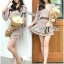 DR-LR-294 Lady Jane Classic Glam Smock Chiffon Dress in Beige thumbnail 10